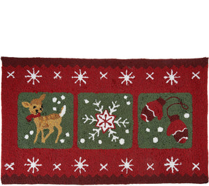 "Nourison 20"" x 32"" Hand-Hooked Holiday Accent Rug - Midtown Bargains"