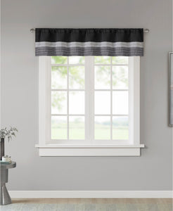 "Amherst Colorblocked 50"" x 18"" Rod-Pocket Window Valance - Midtown Bargains"