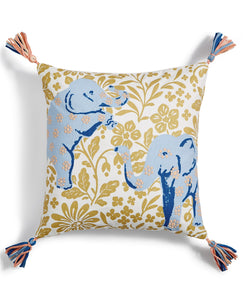 "Martha Stewart Elephant 18"" x 18"" Decorative Throw Pillow - Midtown Bargains"