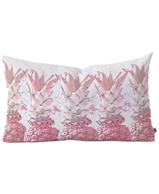 "Pineapple Blush Jungle Oblong 23""x14"" Decorative Pillow - Midtown Bargains"