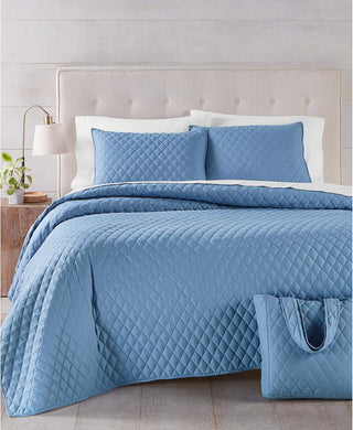 Martha Stewart Quilt and Tote Bag Mini Quilt Set, Full/Queen - Midtown Bargains