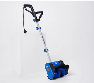 "Snow Joe 9-amp 10"" Electric Snow Shovel, Blue *Box May Be Creased - Midtown Bargains"
