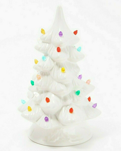 "Mr. Christmas 9"" Nostalgic ""Mimi's Tree"" with Timer White Color - Midtown Bargains"