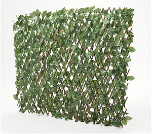 "39"" English Ivy Expandable Fence by Nearly Natural - Midtown Bargains"