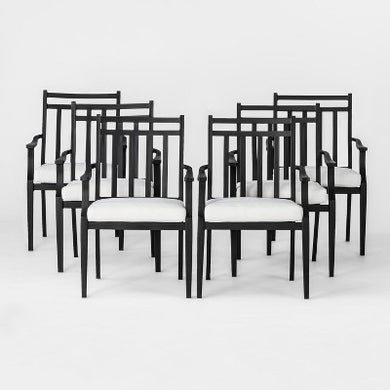 Fairmont 6pk Steel Patio Dining Chairs with Cushions