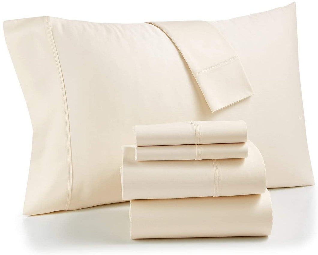 Bradford Stay Fit 800 Thread Count 6 Piece Queen Sheet Set Ivory - Midtown Bargains