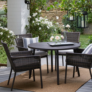 Monroe 4 Person Patio Dining Table, Brown * LOCAL PICKUP ONLY - Midtown Bargains