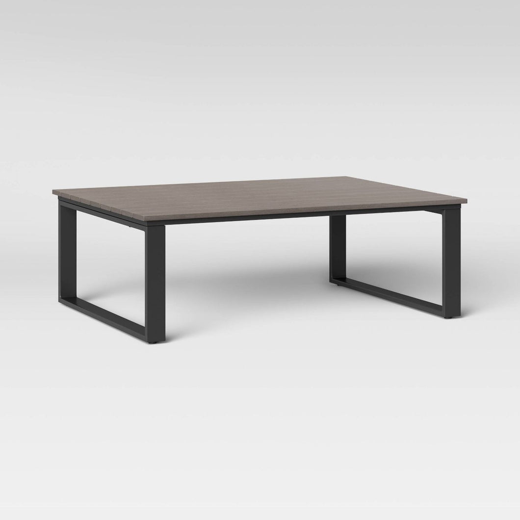 Kipp Platform Patio Coffee Table - Brown - Midtown Bargains