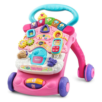 VTech Stroll and Discover Activity Walker - Pink - Midtown Bargains
