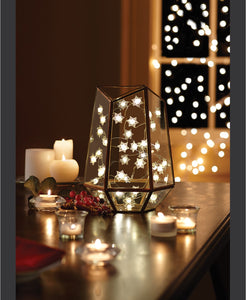 String Lights LED Micro Snowflakes 10ft - Midtown Bargains