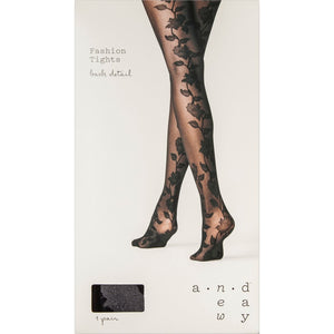 Women's Floral Back Tights - Midtown Bargains