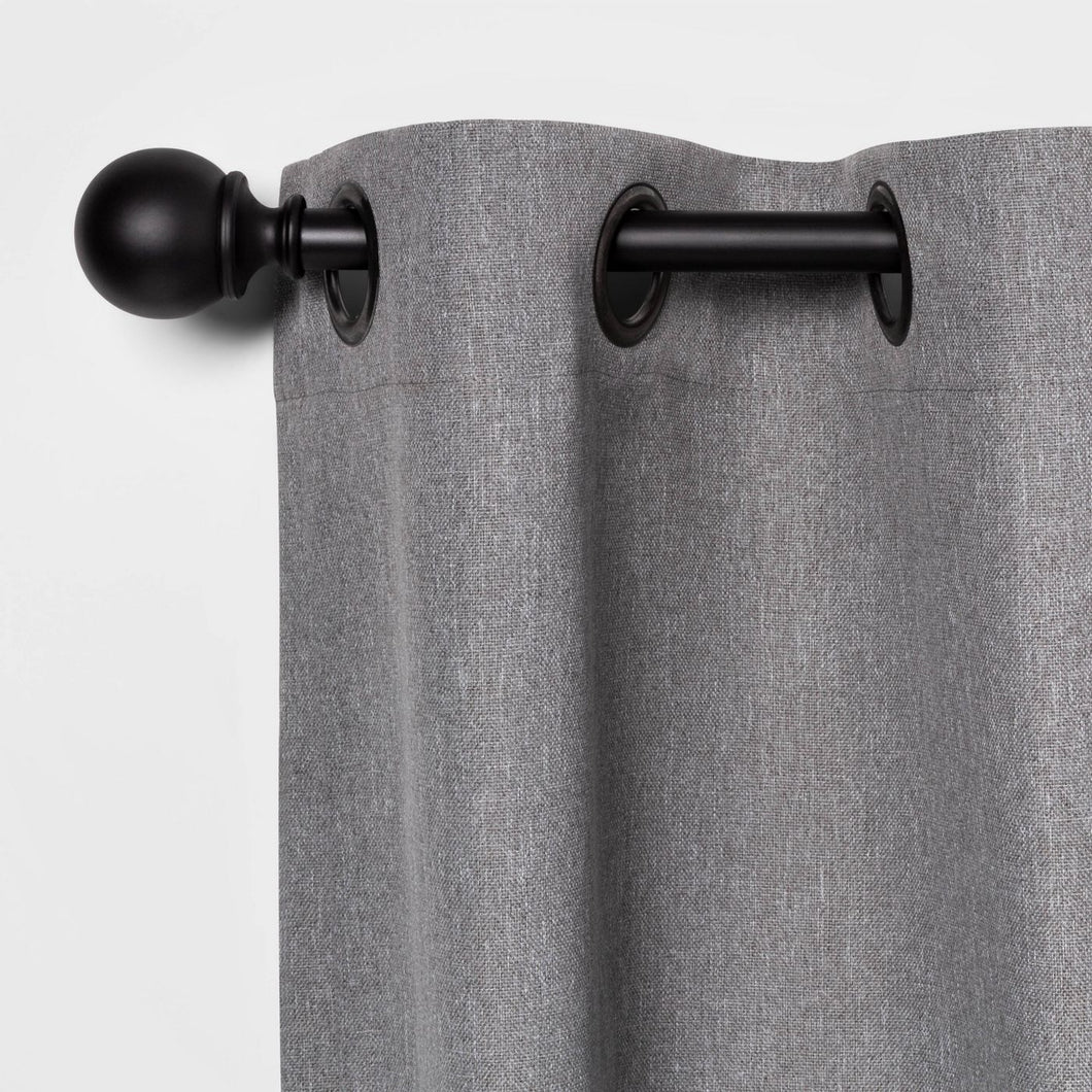 "36""-66"" Ball Curtain Rod Black*LOCAL PICKUP ONLY - Midtown Bargains"