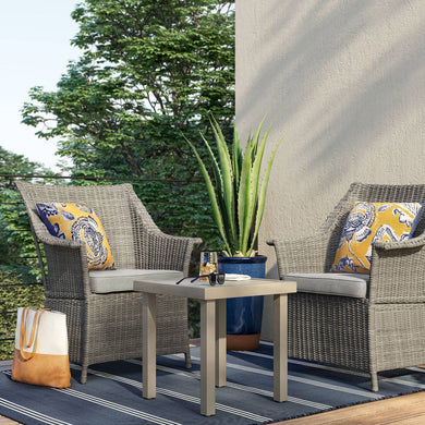 Foxborough 3pc Patio Chat Set - Gray - Midtown Bargains