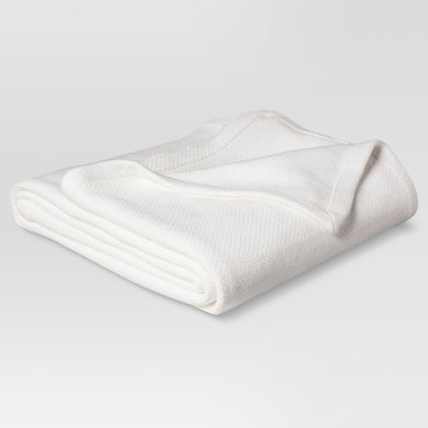 Solid 100% Cotton Blanket (Twin) - Midtown Bargains