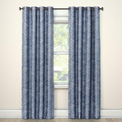 "Blackout 84"" Curtain Panel Modern Stroke - Midtown Bargains"