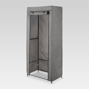 2 Tier Wardrobe Metal Frame With Two Shelves and Breathable Cover *LOCAL PICKUP ONLY