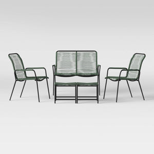 Fitchburg 5pc Patio Conversation Set - Green *LOCAL PICKUP ONLY - Midtown Bargains