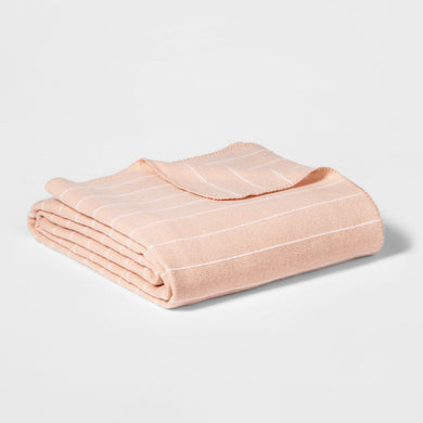 Project 62 Modern Striped Bed Blanket - Twin, Color Pink - Midtown Bargains