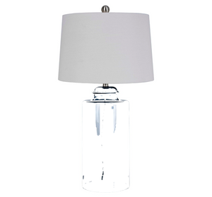 "70% Off - Patterned Ceramic 33"" Statement Lamp, White"