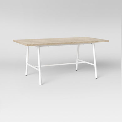 Candela Plank Metal & Wood Dining Table *LOCAL PICKUP ONLY - Midtown Bargains