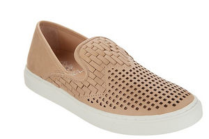 Vince Camuto Suede Perforated Slip-On Shoes, Bristie - Midtown Bargains