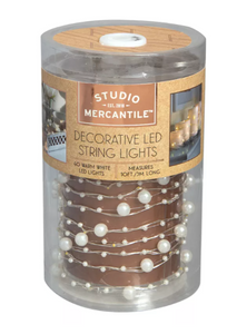Studio Mercantile LED Micro Pearls 10ft String Lights - Midtown Bargains