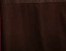 Hookless Jacquard Shower Curtain with Built-In Liner *Chocolate Color