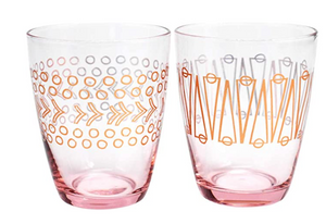Plum and Punch Pink Stemless Wine Glass Set of 2
