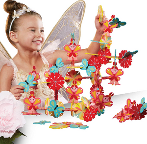 FAQSCHWARZ 60 Piece Multicolored Enchanted Fairy Building Block/Tile Set - Midtown Bargains