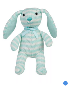 FAQSchawartz Toy Striped Plush Bunny 4inch, Blue - Midtown Bargains