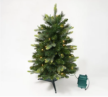 "Bethlehem Lights 30"" Green Overlit Stake Tree with Bow Clear, - Midtown Bargains"