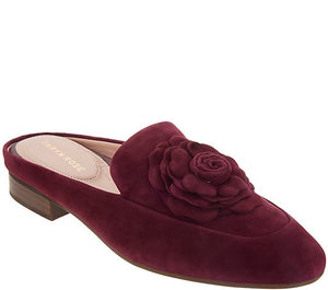 Taryn Rose Leather or Suede Loafer Mules - Blythe Size 7 Wide