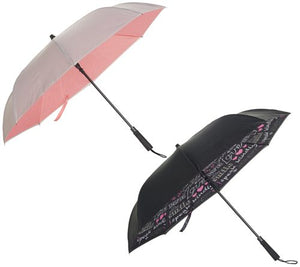 Revers-a-Brella Auto-Open Double Layer Umbrella with Clip Handle - Inspire/Pink - Midtown Bargains