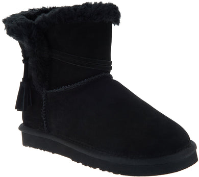 Lamo Water & Stain Resistant Suede Tassel Ankle Boots - Thalia - Midtown Bargains