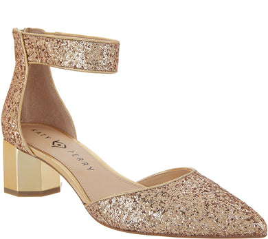 Katy Perry Glitter Ankle Strap Pumps - The Jo, Size 5.5 - Midtown Bargains