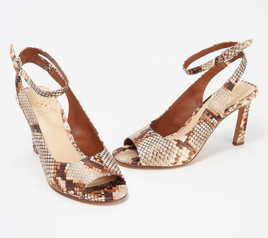 Vince Camuto Heeled Peep Toe Sandals - Rateema, Size 7.5 - Midtown Bargains