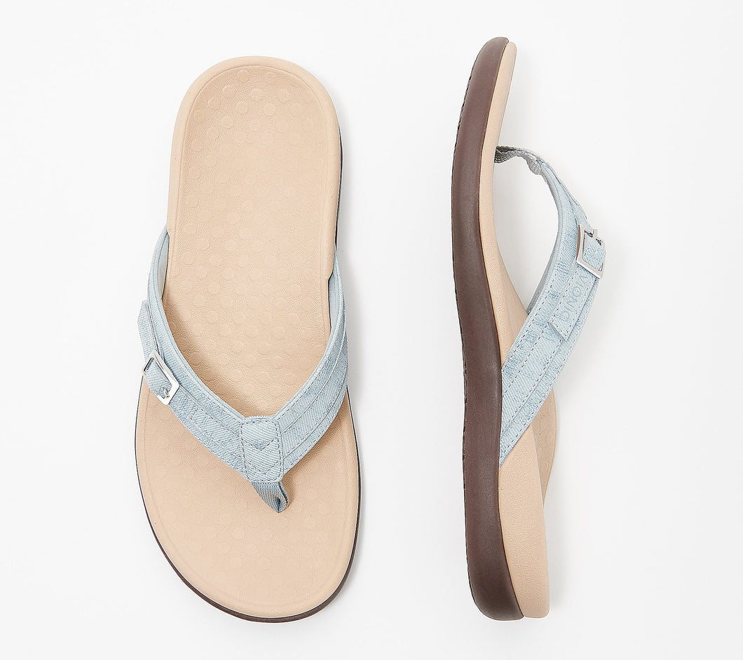 Vionic Thong Sandals with Buckle Detail - Tide Patty Size 5 - Midtown Bargains