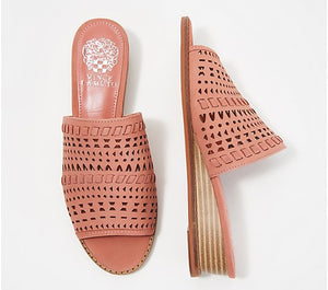 Vince Camuto Leather Wedge Slide Sandals, Rallema - Midtown Bargains