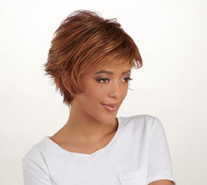 Hairdo Flirty Flip Short Volume Cut Wig ***Medium Brown Gold - Midtown Bargains