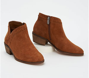 Vince Camuto Leather or Suede Booties - Parrla Size 6-1/2 Wide - Midtown Bargains