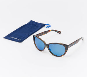 Solarite The Honey Polarized Sunglasses Blue Tortoise One Size - Midtown Bargains