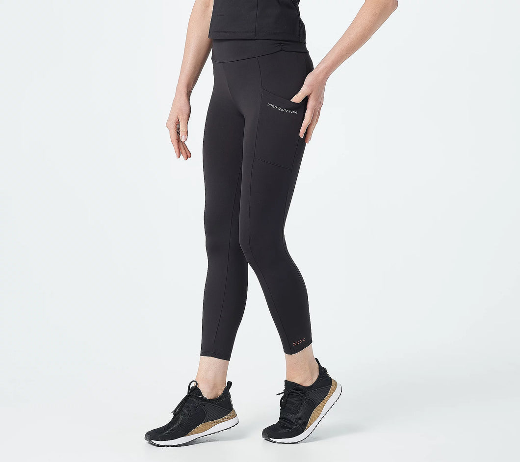 MIND BODY LOVE by Peace Love World Petite Ruched Waist Leggings - Midtown Bargains