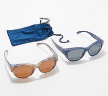 Prive Revaux The Prep Set of 2 Fitover Polarized Sunglasses Navy One Size - Midtown Bargains