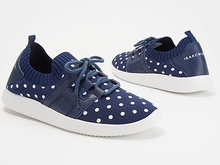 Isaac Mizrahi Live! Polka-Dot Lace-Up Knit Sneaker - Midtown Bargains