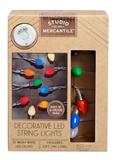 Studio Mercantile LED Novelty Vintage Bulbs 10ft String Lights - Midtown Bargains