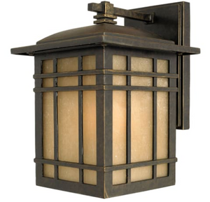 Woodard Rustic 1-Light Outdoor Wall Lantern in Imperial Bronze - Midtown Bargains