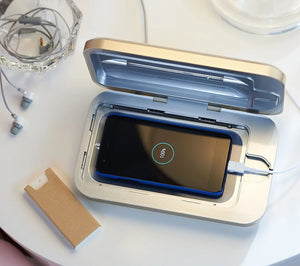 Phone Soap UV Sanitizer & Charger w/ Phone Shine by Lori Greiner - Midtown Bargains