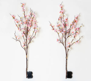 Bethlehem Lights Set of 2 Illuminated Decorative Spring Branches - Midtown Bargains