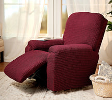 Paulato by Gaico Recliner Toscano Stretch Slipcover Burgundy - Midtown Bargains
