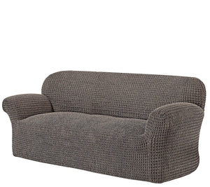 Paulato by Gaico 3-Seater Toscano Stretch Slipcover, Brown - Midtown Bargains